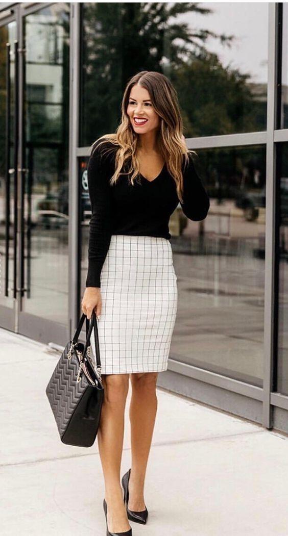 Opta por faldas estilo lápiz