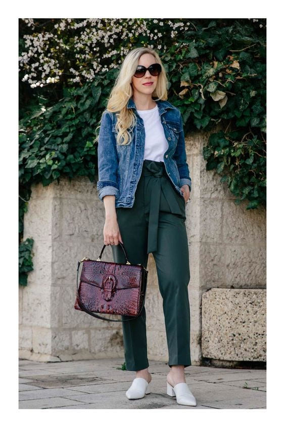 Outfits casuales con pantalones paper bag
