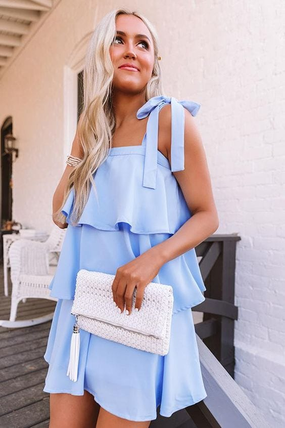Outfits color baby blue primavera - verano