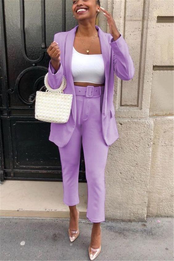 Outfits color lavanda plus size