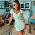 Outfits color menta primavera - verano