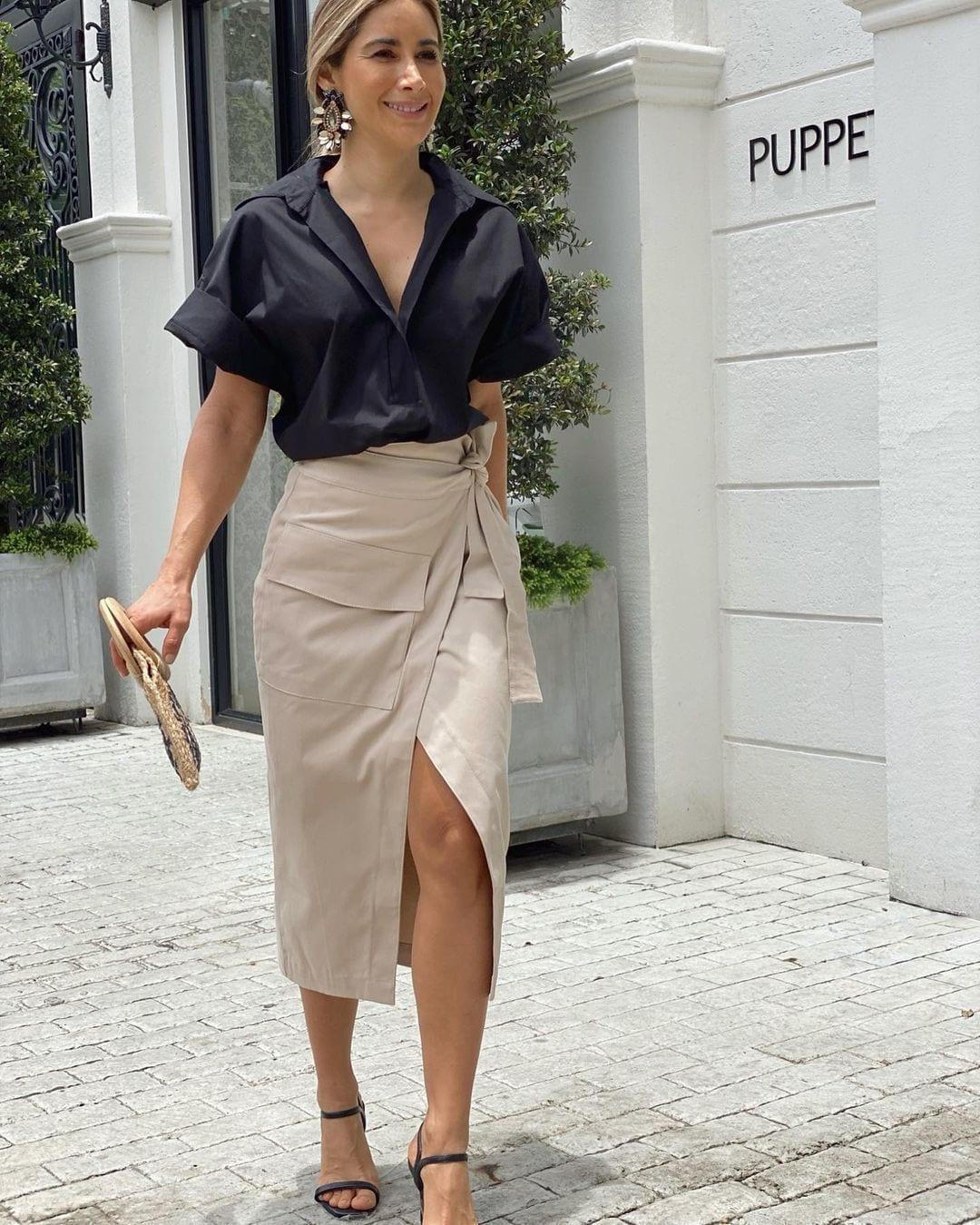 Outfits color negro que sí se pueden usar en la primavera – moda para mujeres maduras