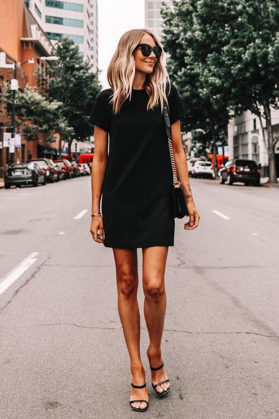 Ideas de outfits con vestidos negros para primavera
