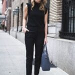Outfits formales color negro para primavera
