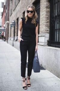 Outfits formales color negro para primavera