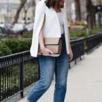 Outfits con blazer capa color blanco