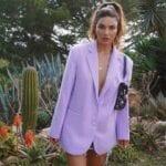 Outfits con blazers color lavanda
