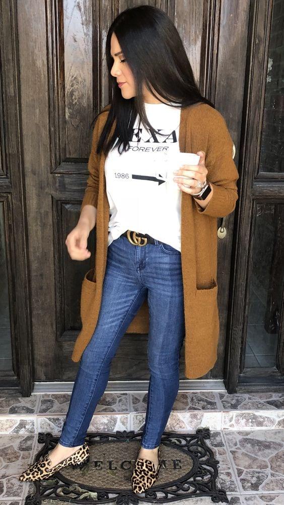 Outfits con flats para mujeres de 40