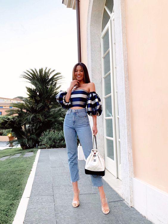 Outfits con jeans casual y elegante