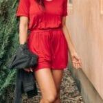 Outfits con romper primavera - verano para mujeres maduras
