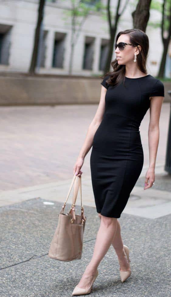 Outfits con vestidos para usar en el trabajo