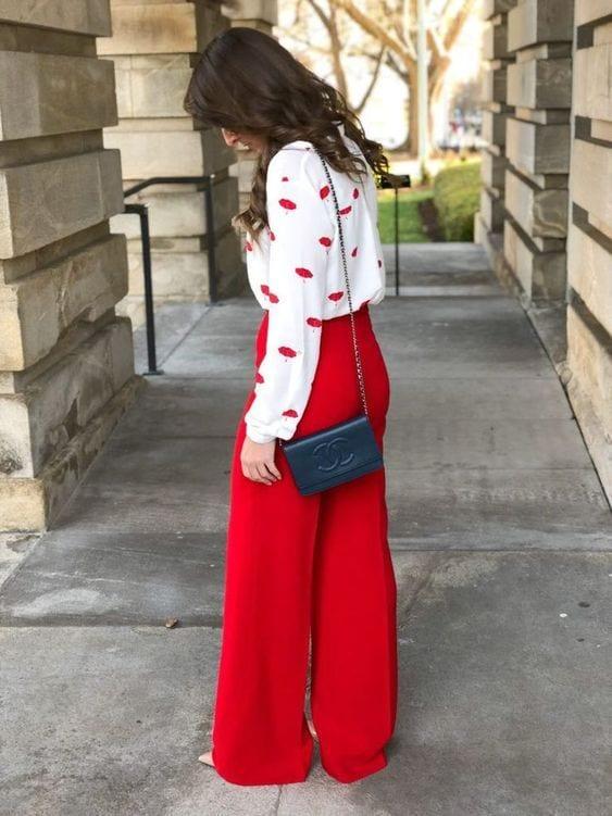 Pantalones tipo palazzo para mujeres maduras