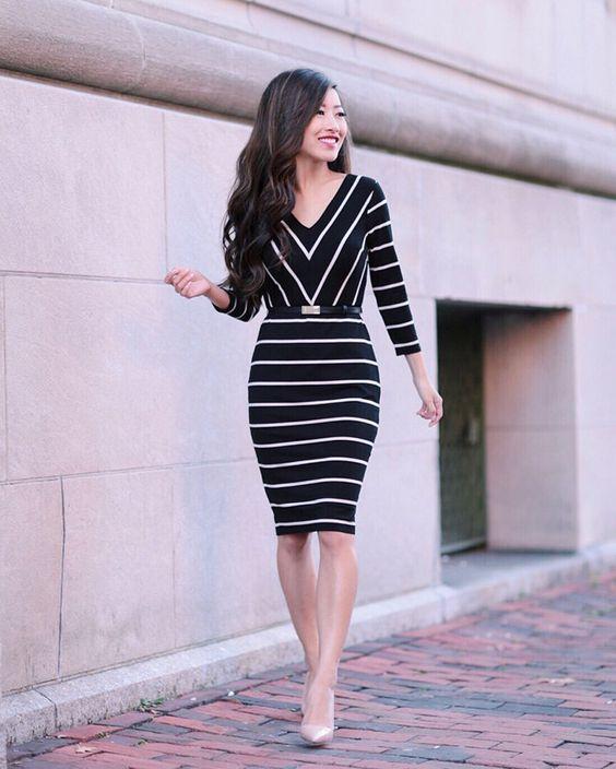 Usa vestidos estilo tubo