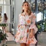 Vestidos con estampado floral para mujeres maduras