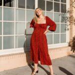 Vestidos rojos casuales para mujeres curvy