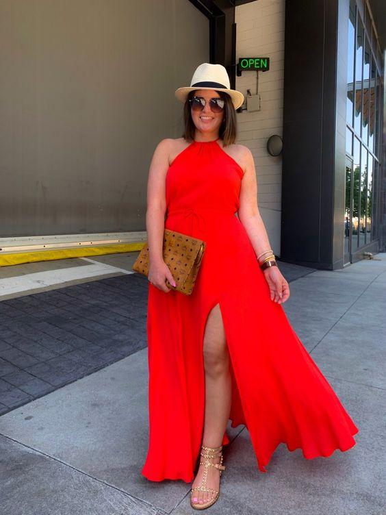Vestidos rojos para mujeres maduras con curvas
