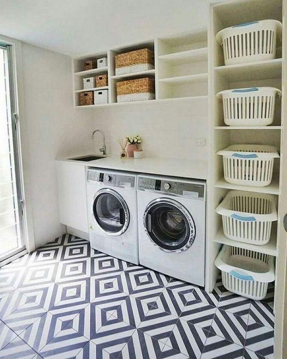 Almacenamiento para un cuarto de lavado