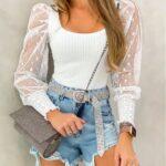 Blusas en color blanco primavera - verano