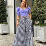 Diseños de blusas color lavanda primavera - verano