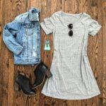 Chamarra de mezclilla con vestido