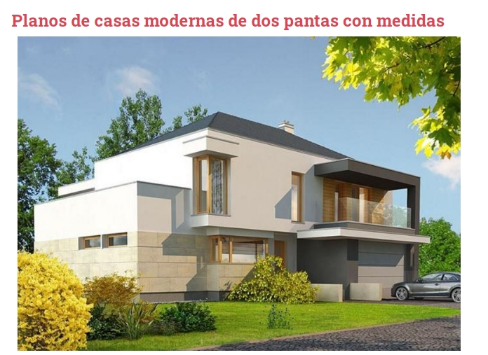 Check out these modern two-story house plans with a facade