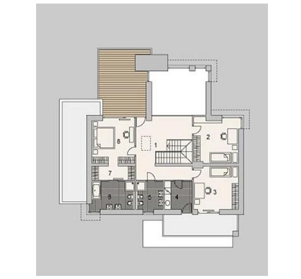 Checa estos planos de casas modernas de dos plantas con fachada