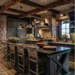 Cocinas rústicas modernas amplias