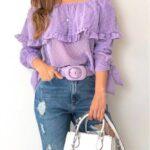 Tops y blusas en colores pastel