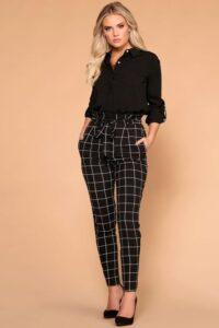 Como combinar pantalones de cuadros para el trabajo