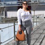 Como combinar pantalones de cuadros si eres una mujer plus size