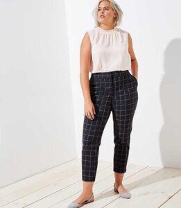Como combinar pantalones de cuadros si eres una mujer madura