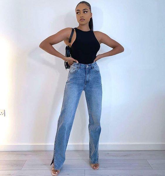 25 maneras de usar jeans rectos si eres una mujer madura