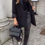 Outfits con toques de negro para el sábado