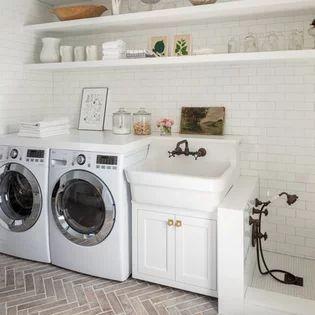 Diseños de cuarto de lavado con lavadero