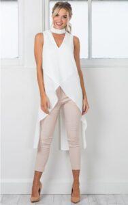 Elige blusas que tengan el largo adecuado