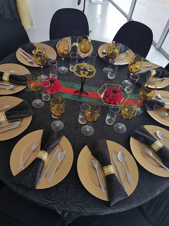 Ideas de centros de mesa para una fiesta buchona
