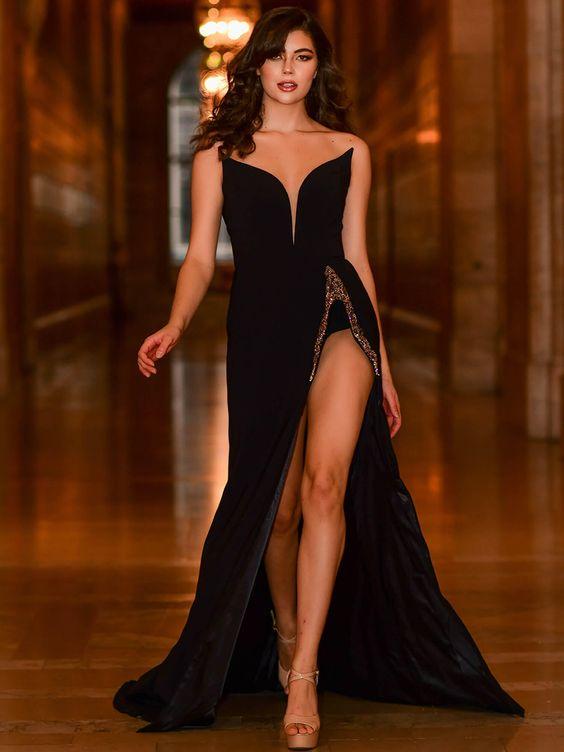 Ideas de looks con vestido negro elegante