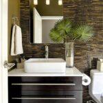 Ideas de papel tapiz para baños texturizados