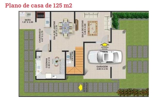 2 Story 125 Square Meter Modern House Plan Ideas