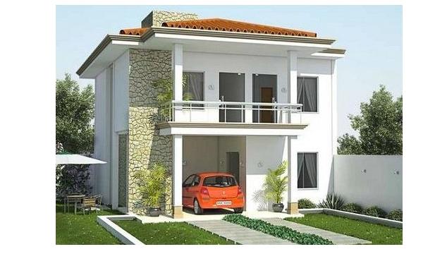 Modern 2-story, 125-square-meter house plan ideas