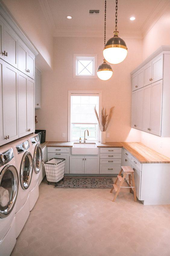 Ideas para cuartos de lavado grandes