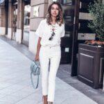 Jeans blancos con blusas blancas
