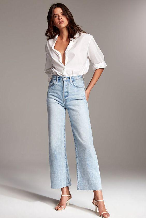 Looks con jeans rectos y tacones