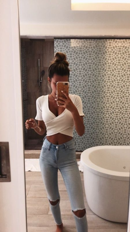 Looks con jeans ajustados