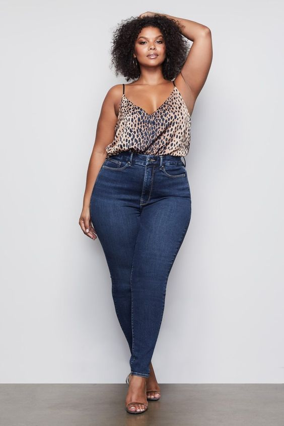 Looks con jeans para mujeres plus size