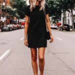 Looks con vestido negro corto