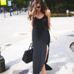 Looks con vestido negro largo