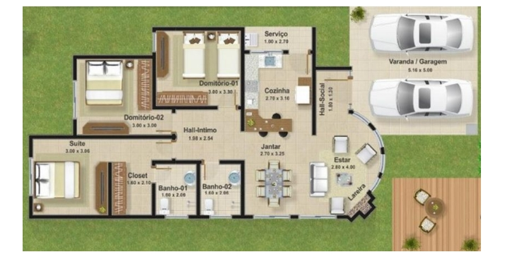 Modern 3-bedroom house plan options