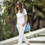 Opciones para combinar jeans blancos
