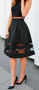 Opta por faldas en línea A